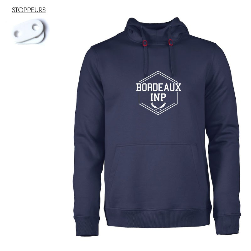 Sweat à capuche Bordeaux INP Homme