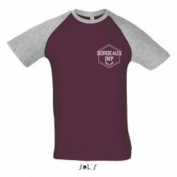 T-shirt bicolore Bordeaux...